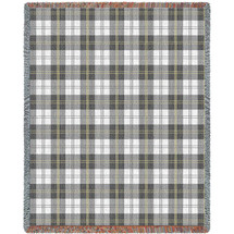 Soft Greyish Grey Plaid Blanket Tapestry Throw