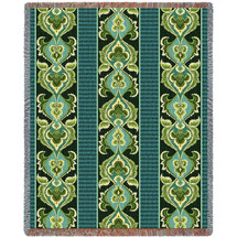 Ivy Rose by William Morris - Arts And Crafts  - Tapestry Throw