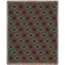 Flower Power Tapestry Throw