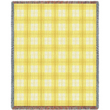 Lemon Plaid Blanket Tapestry Throw