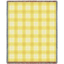 Lemon Plaid Blanket Tapestry Throw