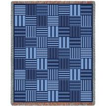 Tile Blue Blanket Tapestry Throw