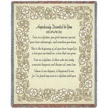 Wedding Gold Blanket Tapestry Throw