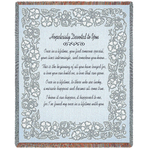 Pure Country Weavers - Wedding Embroidery Silver Woven Large Soft Comforting Throw Blanket With Artistic Textured Design Cotton USA 72x54 Tapestry Throw