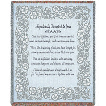 Wedding Embroidery Silver Blanket Tapestry Throw