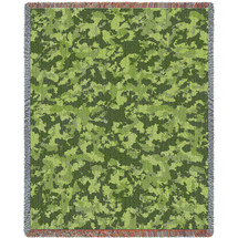 Pure Country Weavers - Camo Woods Woven Large Soft Comforting Throw Blanket With Artistic Textured Design Cotton USA 72x54 Tapestry Throw