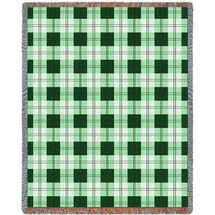 Pure Country Weavers - Gooseberry Plaid Large Soft Comforting Throw Blanket With Artistic Textured Design Cotton USA 72x54 Tapestry Throw