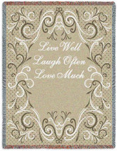 Live Well Laugh Often Love Much - Tapestry Throw