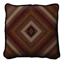 Chevron Textured Hand Finished Elegant Woven Throw Pillow Cover 100% Cotton Made in the USA Size 17x17 Pillow