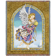 Guardian Angel and Baby Woven Blanket Large Soft Comforting Throw 100% Cotton Made in the USA 72x54 Tapestry Throw