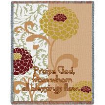 Chrysanthemums III Blanket Tapestry Throw