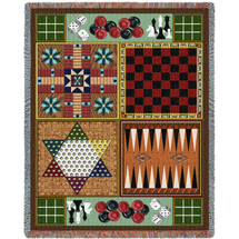 Pure Country Weavers - Game room Board-Games Woven Large Soft Comforting Throw Blanket With Artistic Textured Design Cotton USA 72x54 Tapestry Throw