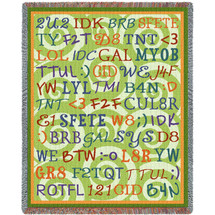 Tween Talk Blanket Tapestry Throw