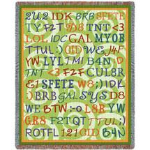 Tween Talk Blanket Tapestry Throw