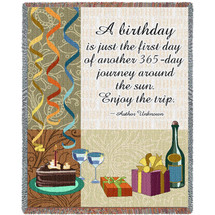 Your Birthday Blanket Tapestry Throw