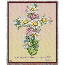 Daisy Cross Blanket Tapestry Throw