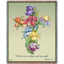 Iris Cross Blanket Tapestry Throw