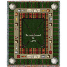 Memorial Golf - Remembered In Love - Sympathy - Tapestry Throw