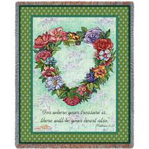 Treasured Heart Blanket Tapestry Throw