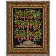 The Grape Vine -John 15:5 - Tapestry Throw