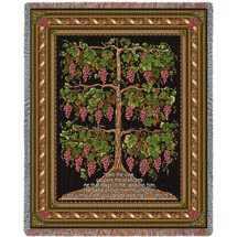 The Grape Vine - I Am The Vine You Are The Branches - Scriptures - John 15:5 - Tapestry Throw