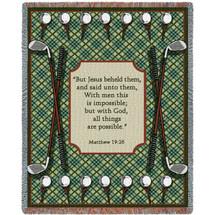 Golf Prayer Blanket Tapestry Throw