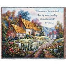 Clospie Village Garden Blanket Tapestry Throw