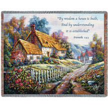 Clospie Village Garden Blanket Tapestry Throw