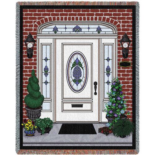 Front Door Blanket Tapestry Throw