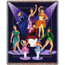 Dance Recital Blanket Tapestry Throw
