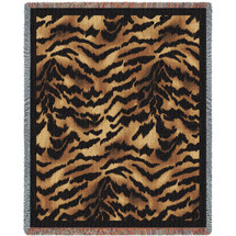 Tiger Skin Tapestry Throw