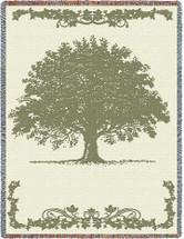 Oak Tree Tapestry Throw