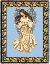 Pure Country Weavers - Guardian Angel and Baby 1 Woven Large Soft Comforting Throw Blanket With Artistic Textured Design Cotton USA 72x54 Tapestry Throw
