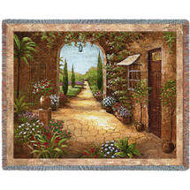 Pure Country Weavers - Secret Garden I Woven Large Soft Comforting Throw Blanket With Artistic Textured Design Cotton USA 72x54 Tapestry Throw