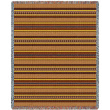 """100% Cotton Southwest Blanket, Woven Large Soft Comforting Aztec Blanket """"Sky Blue Saddle"""" w/ Cotton Fringe & A Native American Pattern, Tribal Camp Throw (72x54) Tapestry Throw"""