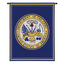 United States Army | Woven Tapestry Wall Art Hanging | Department Creast | 100% Cotton USA Size 26x34 Wall Tapestry