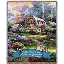 Springtime Glory - The Lord Is My Light And My Salvation -Scriptures -Psalm 27:1 - Tapestry Throw
