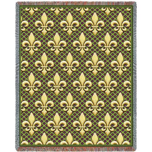 Fleur De Lis Tapestry Blanket Tapestry Throw