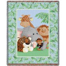 Stuffed Safari Mini Blanket Tapestry Throw