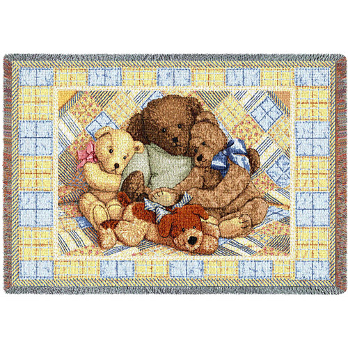 Bear Hugs Mini Blanket Tapestry Throw