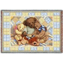 Bear Hugs Mini Blanket Tapestry Throw