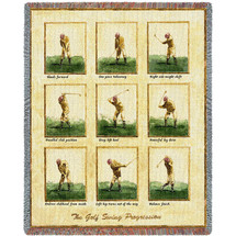Pure Country Weavers - Golfer Swing Golf Decor Woven Large Soft Comforting Throw Blanket With Artistic Textured Design Cotton USA Cotton USA 72x54 Tapestry Throw
