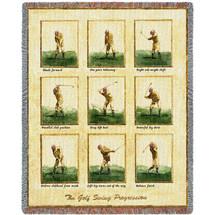 Golfer Swing Tapestry Throw