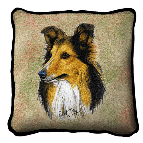 Shetland Sheepdog by Robert May Pillow