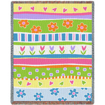 Garden Stripe - Tapestry Throw