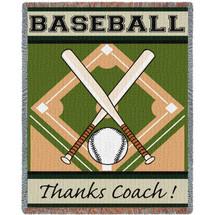 Thanks Coach - Baseball Tapestry Throw