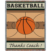 Thanks Coach - Basketball Tapestry Throw