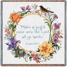 Joyful Noise Unto the Lord - Psalm 100:1 - Lap Square