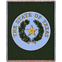 State of Texas Seal - Tapestry Throw