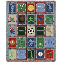 Sports Quilt - Tapestry Throw